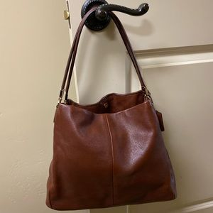 Coach cognac purse